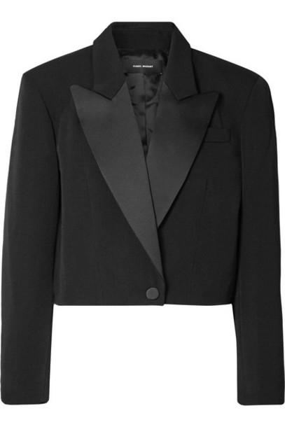Isabel Marant - Lewin Satin-trimmed Wool Blazer - Black