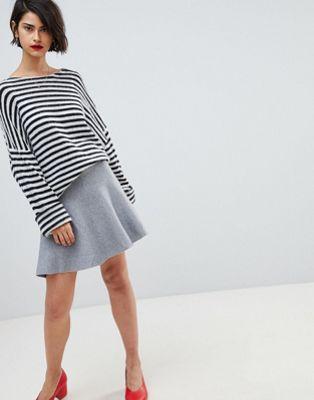 Vero Moda Peplum Hem Skirt at asos.com