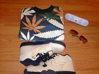 sweater weed high smoke drugs hoodie hash jumper stoner hahaha cute