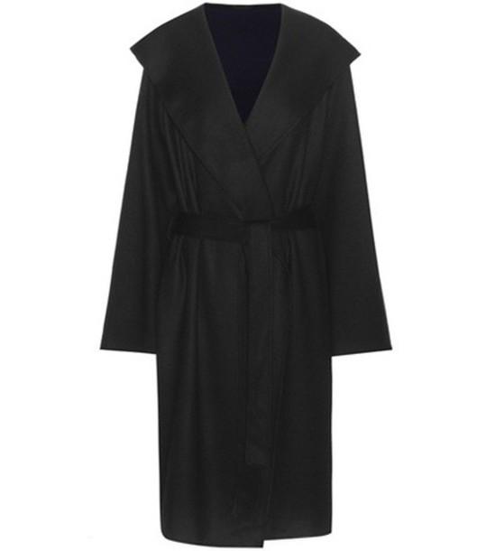 The Row Marney Virgin Wool Coat in black