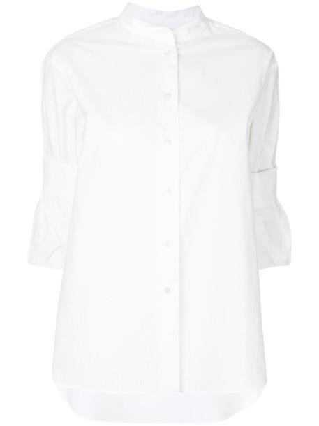 Odeeh shirt women white cotton top
