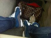 shoes,louis,vuitton,bag,foxtail,jeans,sneakers,blue,white,grey