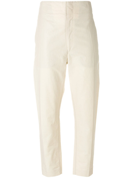 Isabel Marant high women nude cotton pants