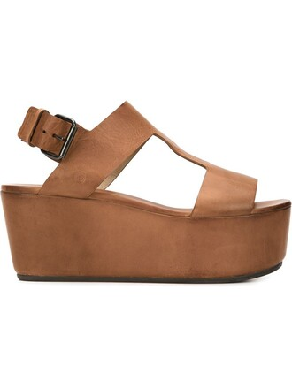 women sandals wedge sandals leather brown shoes