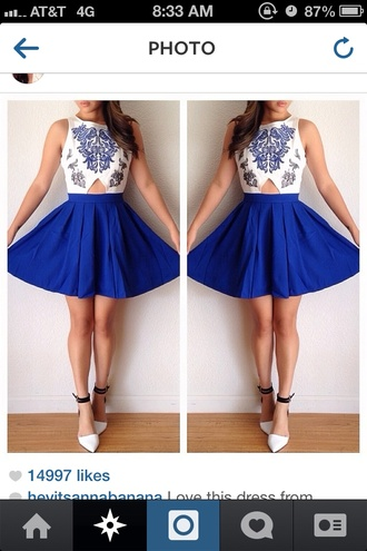 dress blue cute summer white heels girl flowy design short cut beautiful grey dressy fancy spring spring outfits blue dress sexy blue dresses