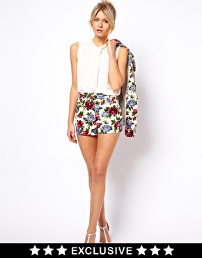 Oasis | Oasis Rose Print Shorts at ASOS