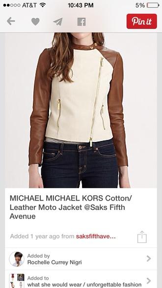 jacket moto jacket leather jacket michael kors