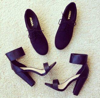 shoes zooshoo black heels escarpins derbies