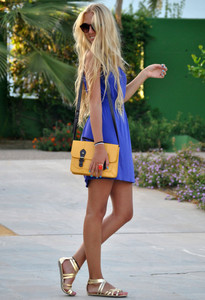 dress blue dress bag