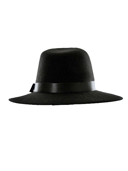 60445427cd1 Black Felt Fedora (Women or Men) - Choies.com