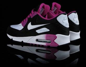 shoes nike black white pink purple running shoes air max nike shoes nike running shoes nike air nike sneakers women