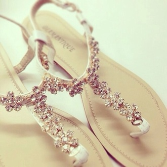wedding shoes wedding accessories diamonds flat sandals elegant beach wedding flats