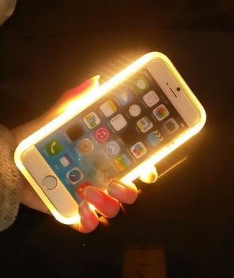 phone cover selfie case lit summer 16 rue luxe lumee lumee case kim kardashian kylie jenner vanity mirror make-up ring light