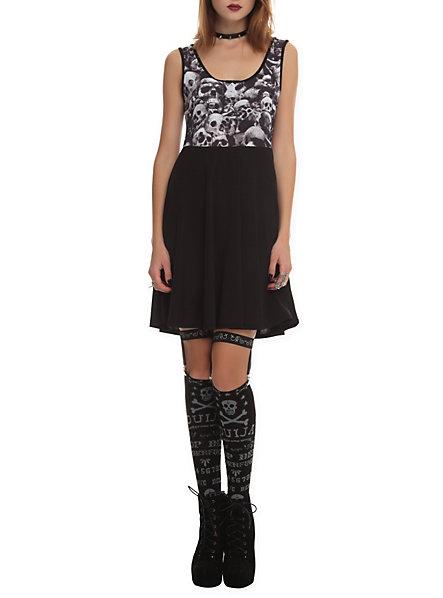 Teenage Runaway Skulls Dress | Hot Topic