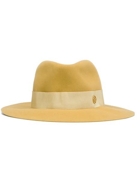 hat fedora yellow orange
