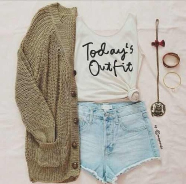sweater graphic tee High waisted shorts green grunge hipster alternative boho shirt shorts