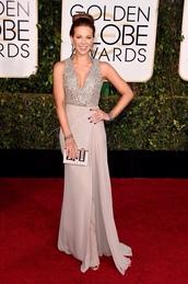 dress,kate beckinsale,Golden Globes 2015,clutch,bag