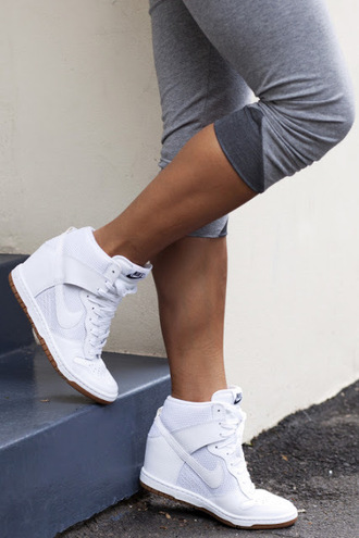 shoes nike wedges sneakers white lace up women's women's shoes dress