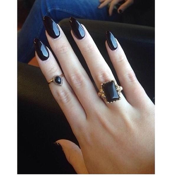 jewels ring black black rings
