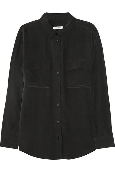 Equipment|Signature washed-silk shirt|NET-A-PORTER.COM