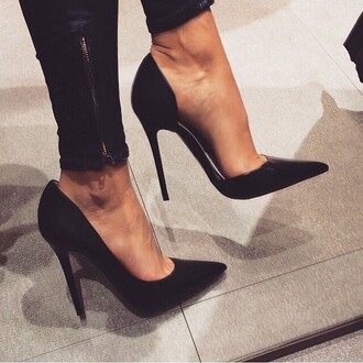 shoes high heels black