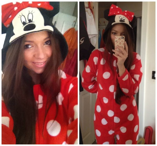 sweater onesie minnie mouse