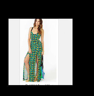 dress leopard print animal animal print cute pretty trendy bright fashion style black green yellow nastygal