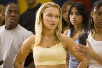 top yellow pretty work outfits hayden panettiere blonde hair crop tops tank top summer summer top cheerleading cute movies celebrity style bring it on tight