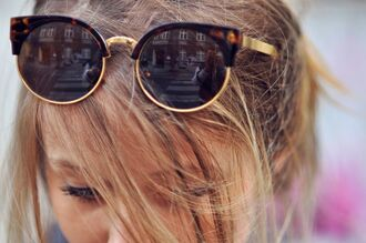 sunglasses sunnies round bottom winged top gold leopard print perfection