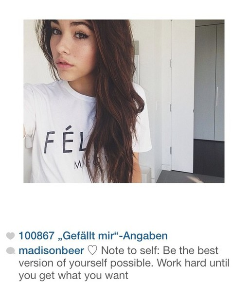 celine white black t-shirt madison beer madisonbeer