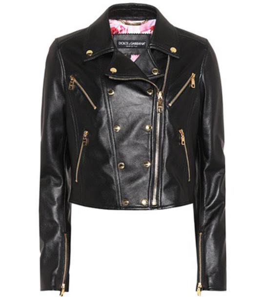 Dolce & Gabbana jacket leather jacket leather black