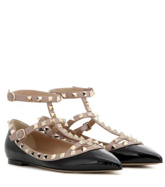 Valentino leather black shoes