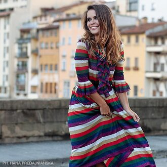 dress gucci colorful stripes luxury summer outfits striped dress spring outfits summer dress