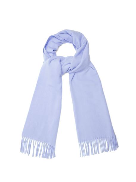 Acne Studios scarf wool light purple