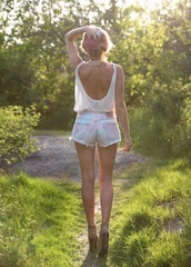 shirt,clothes,shorts,tank top,want this thank top,white tank top,open back