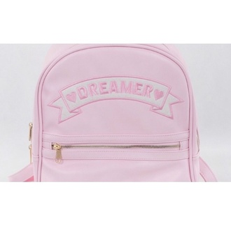 bag baby pink dreamer pastel pink backpack pastel bag pastel pastel goth pastel pink it girl shop dreamcatcher cute kawaii hipster tumblr soft grunge hippie vintage girly style