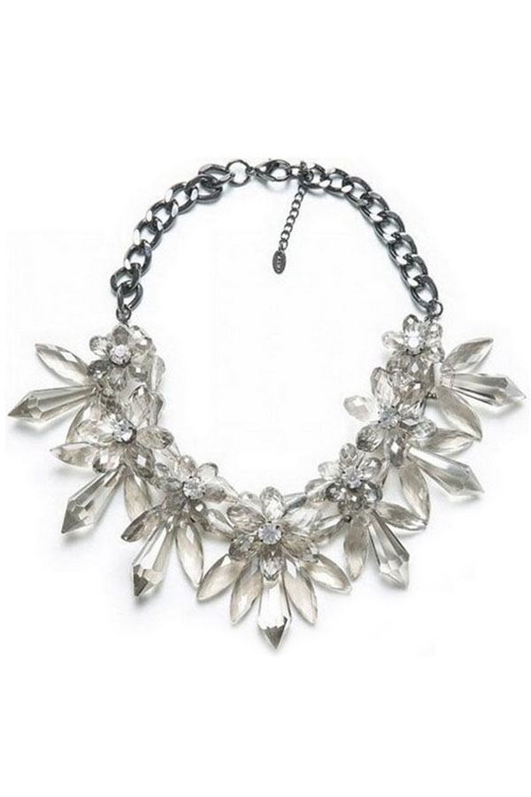 Transparent Flower Evening Choker - OASAP.com