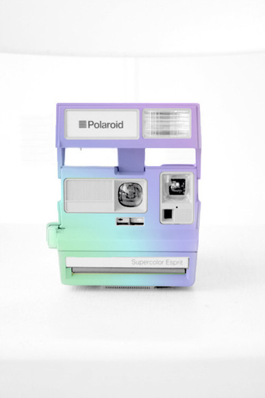 cool colorful nice fun happpy trendy modern polaroid camera photography technology pastel camera rainbow tumblr