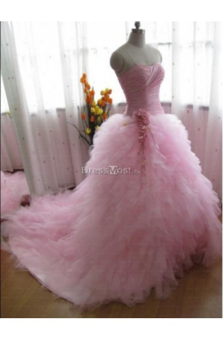 Gorgeous organza sweetheart empire layers quinceanera dress