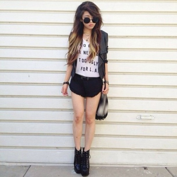 shorts short black girl girly outfit girly outfits tumblr