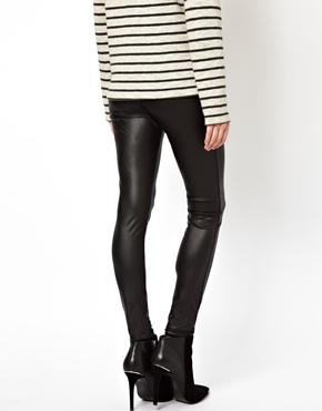 ASOS | ASOS Leather Look Leggings at ASOS