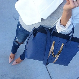 bag blue bag tote bag jeans ripped jeans ripped denim denim shoes any color