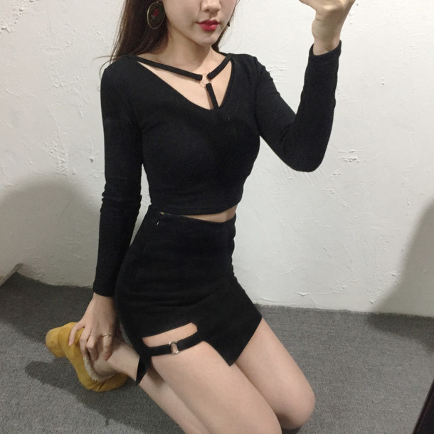 Skirt Goth Sexy Korean Fashion Korean Fashion Sexy Top