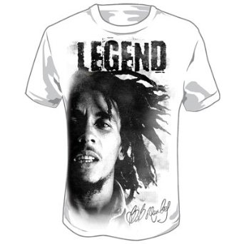 Amazon.com: Bob Marley - Legend Adult T-Shirt in White: Clothing