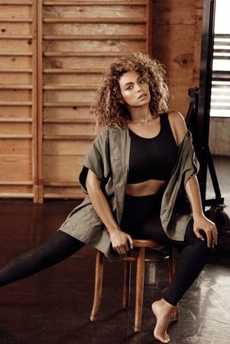 top leggings editorial beyonce jacket crop tops ivy park
