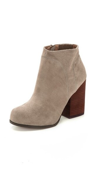 suede booties booties suede taupe shoes