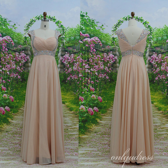 Long prom dress modern sweetheart straps prom dress by onlyudress