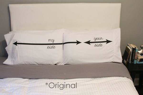 Cute Pillows For Couples : couples pillow cases My Side Your Side His and Hers Pillow Case Set His and Hers Pillow Funny Pillow