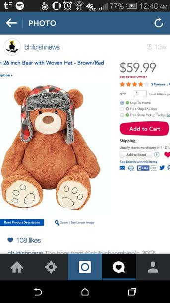 bear, childish gambino, gambino, donald glover, 3005, stuffed animal -  Wheretoget