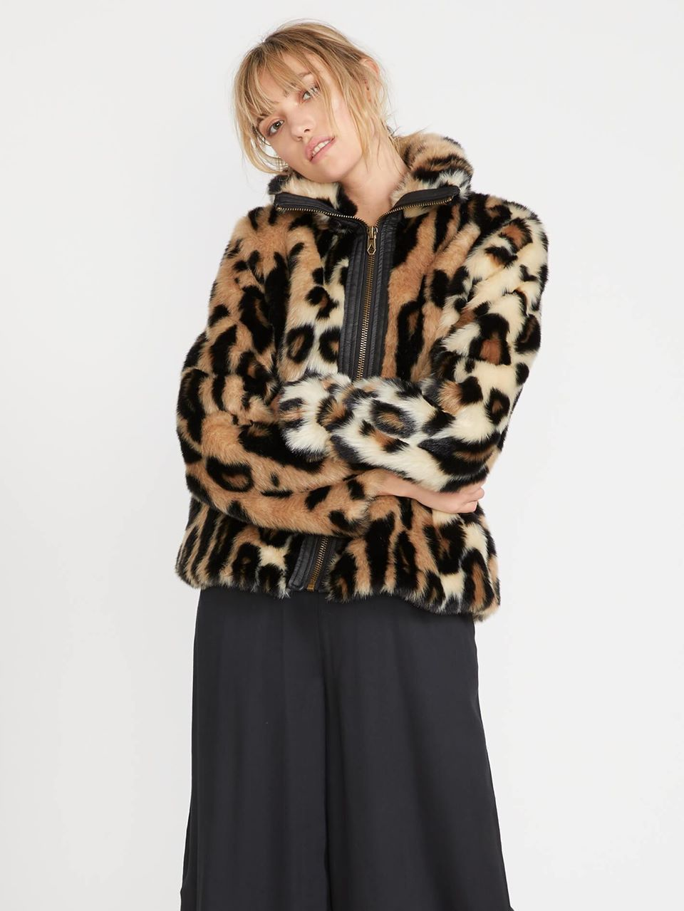 Faux Yo Info Jacket - Leopard